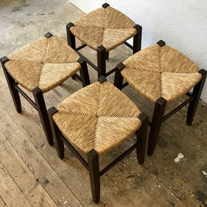 Vintage Straw Stools (reserved)