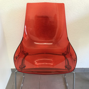 Italian Red Acrylic Chair
