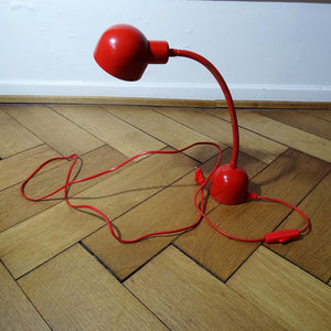 Red Retro Desk Lamp