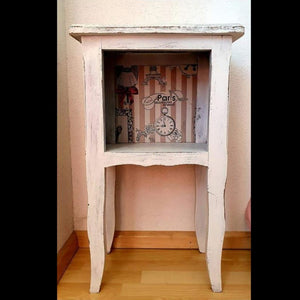 Shabby Chic white side table