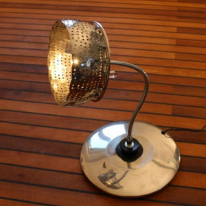 steamer upcycled lamp