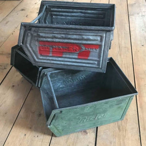 Vintage industrial boxes
