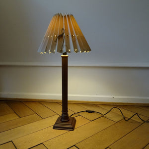 Second Hand Danish Solid Wood & Cloth Lamp Basel