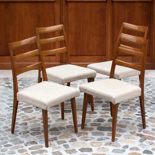 Four Mid-Century Modern Dining Chairs