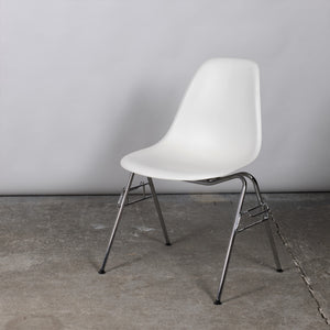 Vitra Plastic Side Chair DSS - White (4)