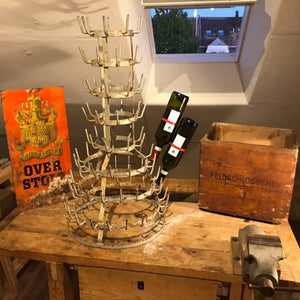 Antique Wine Bottle Drying Rack
