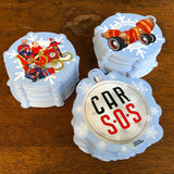 CAR S.O.S. FESTIVE STICKER BUNDLE