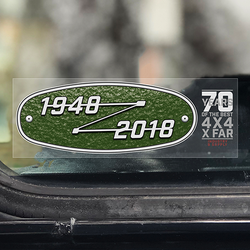 LAND ROVER 70TH BIRTHDAY WINDOW STICKER