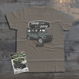 LAND ROVER 70TH BIRTHDAY DEFENDER T-SHIRT