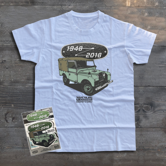LAND ROVER 70TH BIRTHDAY SERIES T-SHIRT
