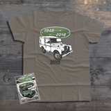 LAND ROVER 70TH BIRTHDAY ARMY T-SHIRT (BLACK & WHITE)