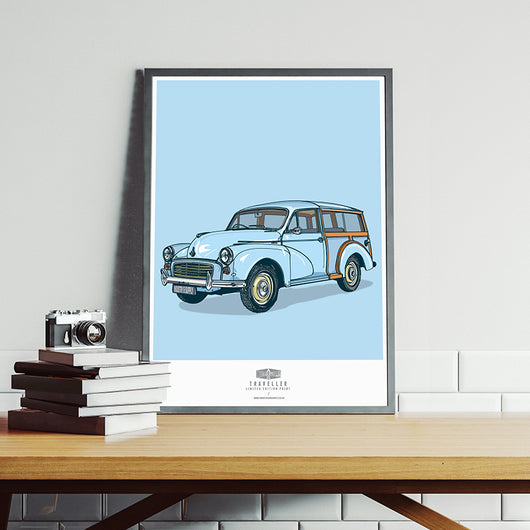 MORRIS MINOR TRAVELLER ART PRINT
