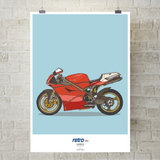 ICONIC SUPERBIKE NO.1 WALL ART PRINT