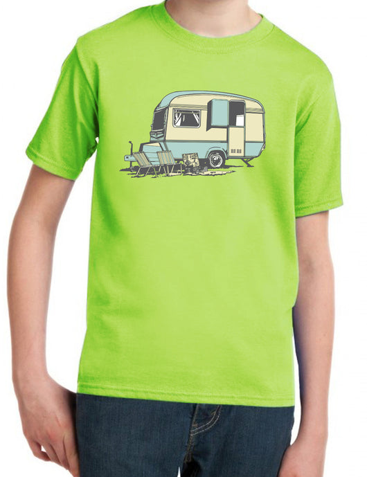 VINTAGE CARAVAN T-SHIRT FOR KIDS