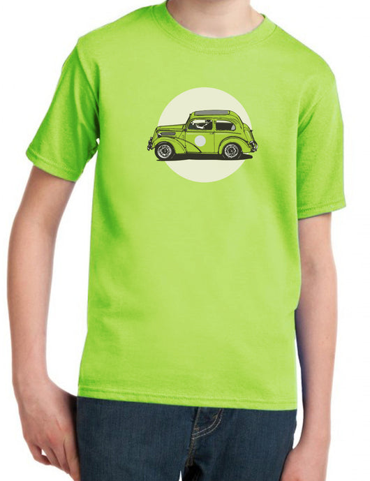 Pudge's Pop Ford 103E Industry & Supply Kids Apple Green T-Shirt
