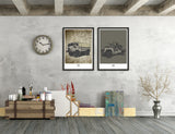 LIMITED EDITION LAND ROVER FORWARD CONTROL 101 ART PRINT