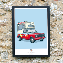 CAR S.O.S. ICE CREAM TRUCK ART PRINT