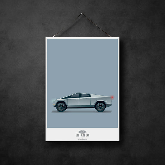 CYBERTRUCK WALL ART PRINT