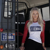 ZIENNA NEVADA PLATE LADIES BASEBALL SHIRT