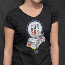 CAR S.O.S. MG METRO LADIES V-NECK T-SHIRT