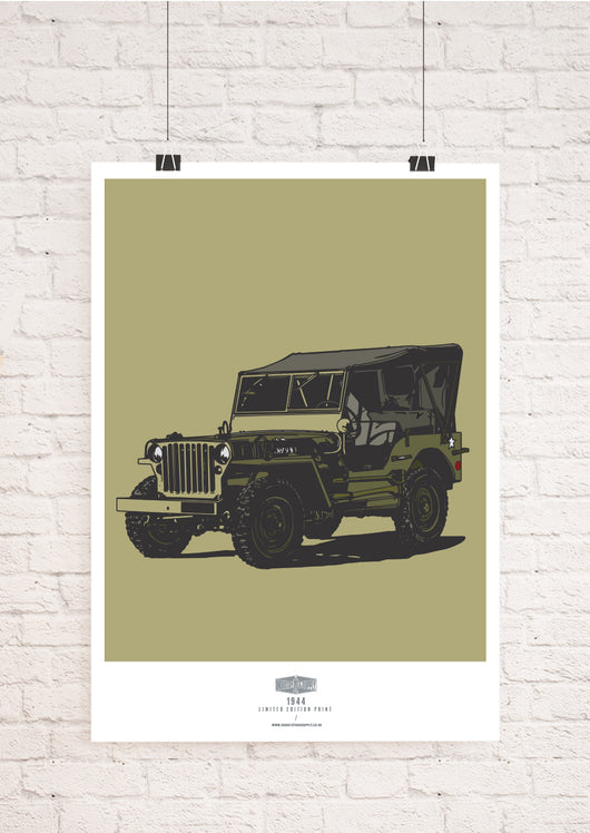 LIMITED EDITION 1944 WILLYS JEEP ART PRINT