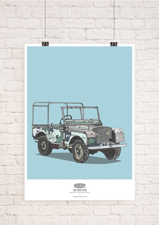 Land Rover 1st Edition Wall Art Print | Industry & Supply