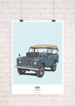 LIMITED EDITION LAND ROVER SERIES 2A ART PRINT