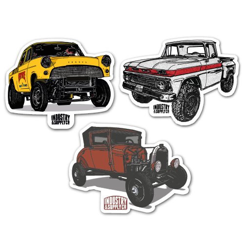 HOTRODS STICKER BUNDLE