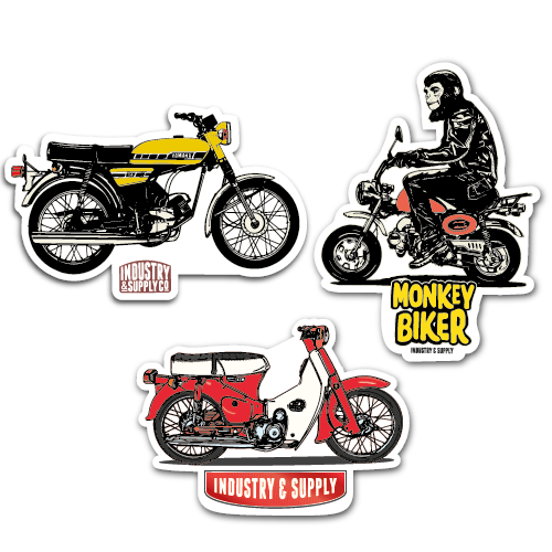 70'S MOTORBIKE STICKER BUNDLE