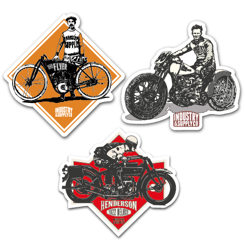 CLASSIC BIKES STICKER BUNDLE