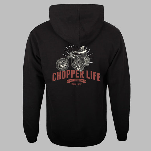 Chopper Life - Black Hoodie Back
