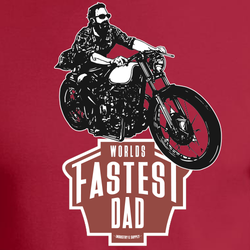 WORLD'S FASTEST DAD BOBBER T-SHIRT