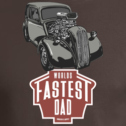 WORLD'S FASTEST DAD 383 CHEVY POP T-SHIRT