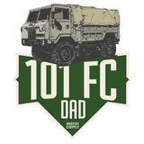 LAND ROVER FORWARD CONTROL 101 DAD T-SHIRT