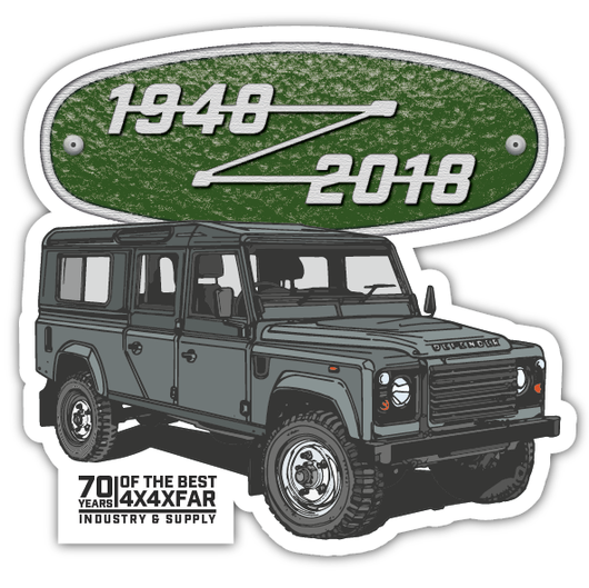 DEFENDER 130 FREE STICKER