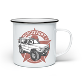 LAND ROVERS ENAMEL MUG