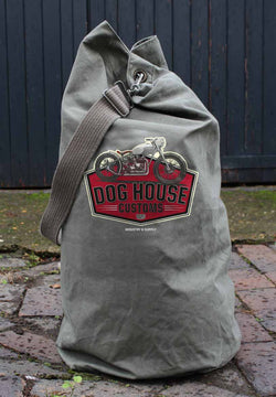 DOGHOUSE CUSTOMS ARMY SURPLUS KIT BAG - USED CONDITION