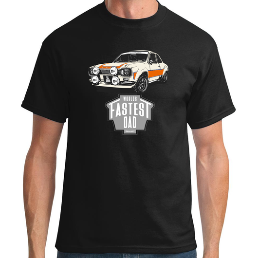WORLD'S FASTEST DAD FORD ESCORT MK1 RS2000 T-SHIRT