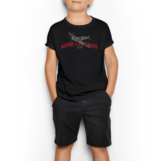 AERO LEGENDS UTILITY NH341 2-SEATER SPITFIRE KIDS T-SHIRT