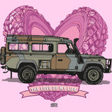 """LOVE OF MY LIFE"" LAND ROVER DEFENDER LADIES V-NECK T-SHIRT"