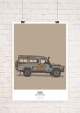 LAND ROVER DEFENDER CAMO ART PRINT