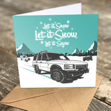 "LAND ROVER ""LET IT SNOW"" CHRISTMAS CARDS"