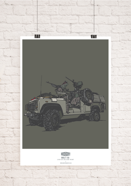 LIMITED EDITION WOLF 110 WALL ART PRINT