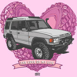 """LOVE OF MY LIFE"" LAND ROVER DISCOVERY LADIES V-NECK T-SHIRT"