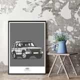 LAND ROVER DISCOVERY TWO FACELIFT ART PRINT