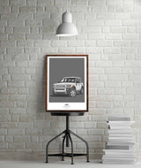 LAND ROVER DISCOVERY THREE WALL ART PRINT