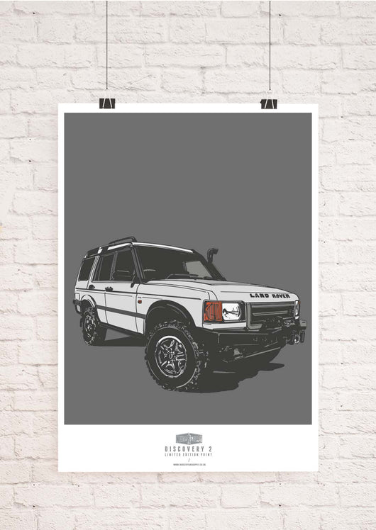 LIMITED EDITION LAND ROVER DISCOVERY TWO ART PRINT
