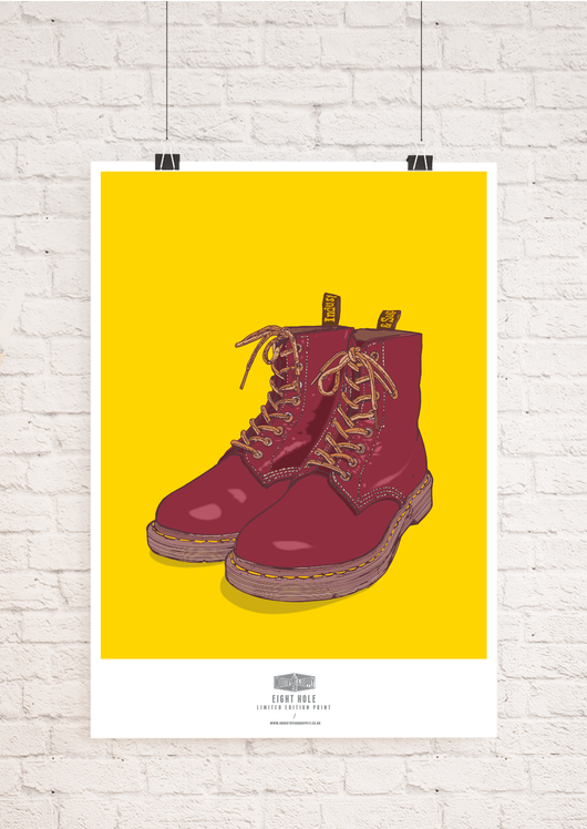 EIGHT HOLE DOC MARTENS WALL ART PRINT