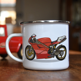 ICONIC SUPERBIKE NO.1 ENAMEL MUG