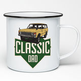 LAND ROVER DAD ENAMEL MUG